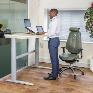 Avoiding back pain: sit-stand desk