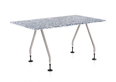 RePlastic Table: Quarry top, Grey legs