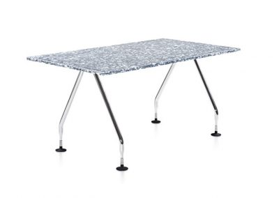 RePlastic Table: Quarry top, Polished legs