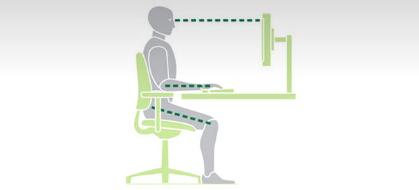 How to set up a desk chair icon