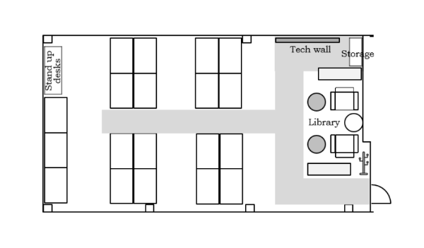 Office Space Efficiency Layout